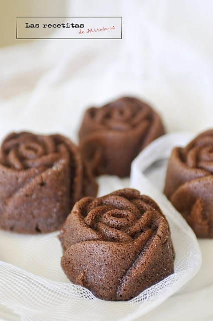 Rose Bundt Cake Images : Mini Bundt Chocolate Rose Cakes CUPCAKES & MINIS Pinterest