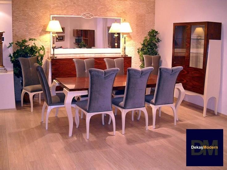Viskon kadife sandalyeler, derinlikli, zengin, egzotik pelesenk kaplama, hafif simle patine edilmiş... pinned with Pinvolve