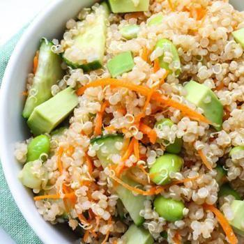 Edamame And Avocado Quinoa Salad | salads | Pinterest
