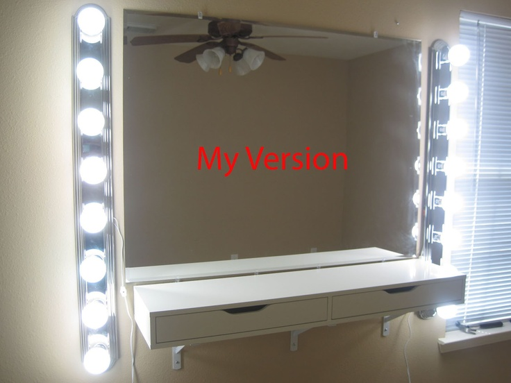 Do it yourself vanity mirror set diy crafts pinterest - Do it yourself light fixtures ...