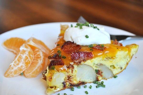 Baked Potato Frittata, breakfast | Parties I Throw in my Dreams | Pin ...