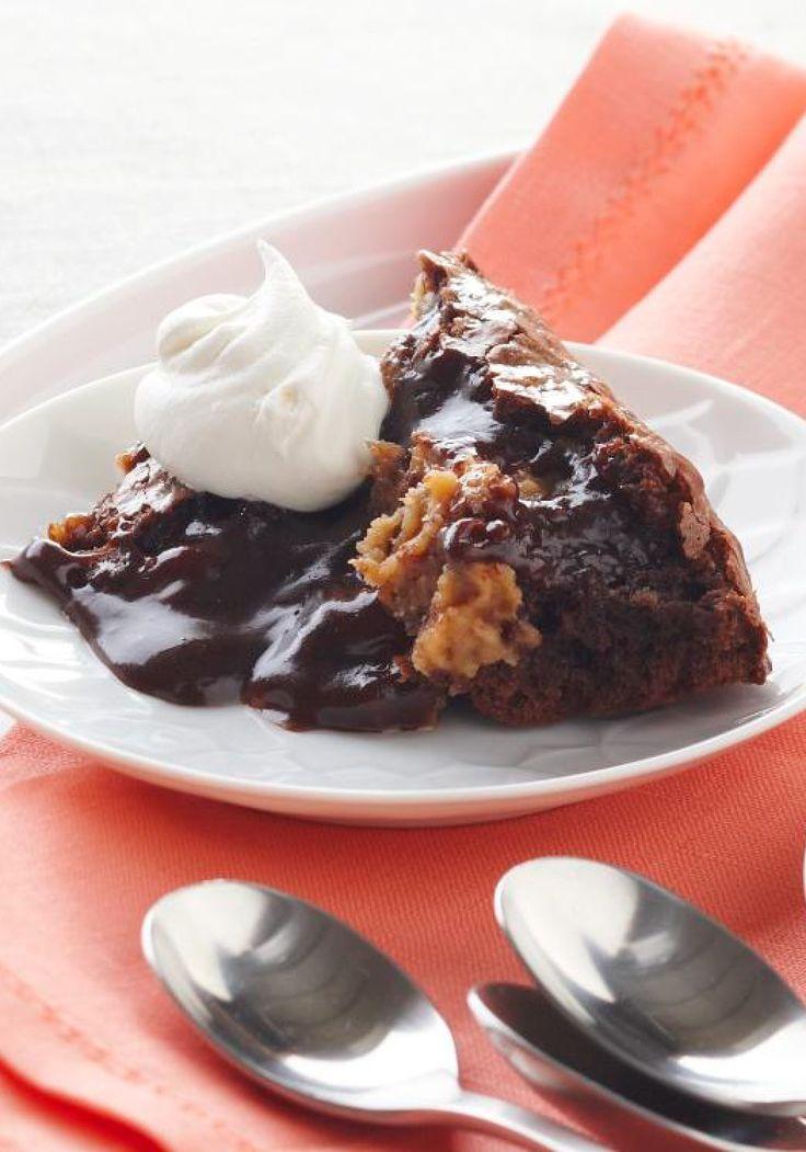 Molten Cake – Chocolate cake + peanut butter + an ooey-gooey ...