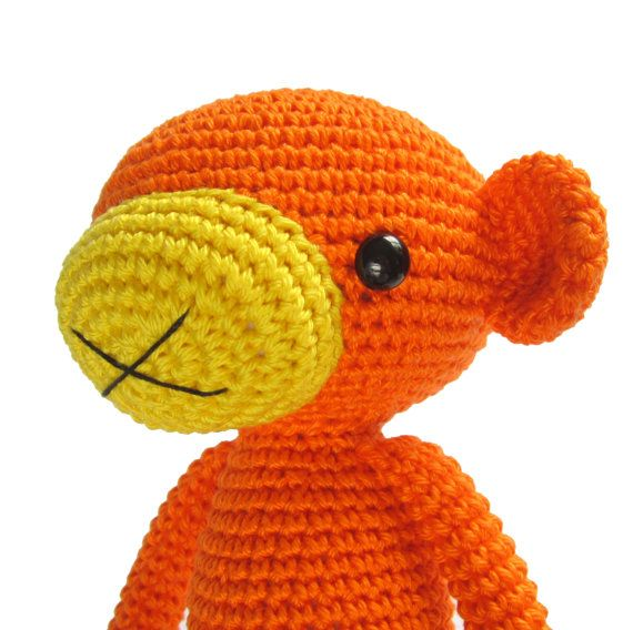Amigurumi Jungle Animals : CROCHET PATTERN - Monkey - Amigurumi stuffed animal ...