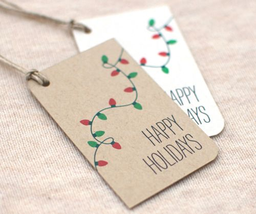 Simple holiday gift tags christmas pinterest for Christmas tags on pinterest