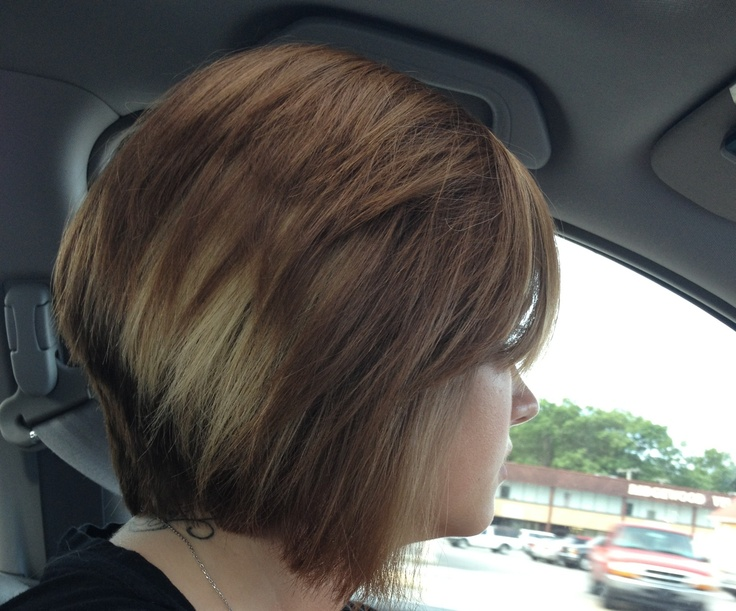 Side View of Severe Angled Stacked Bob Hairstyle - Trendy Bob Haircuts ...