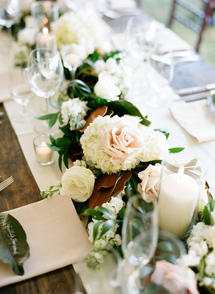 the Elegant table Runner. here: more of wedding   See Table http://www  Garland runner elegant