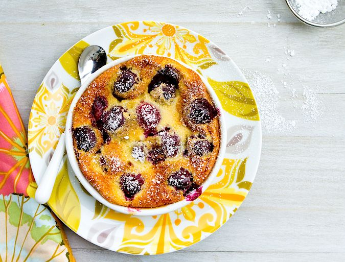Gluten Free Cherry Clafoutis recipe! A baked dessert made out of black ...