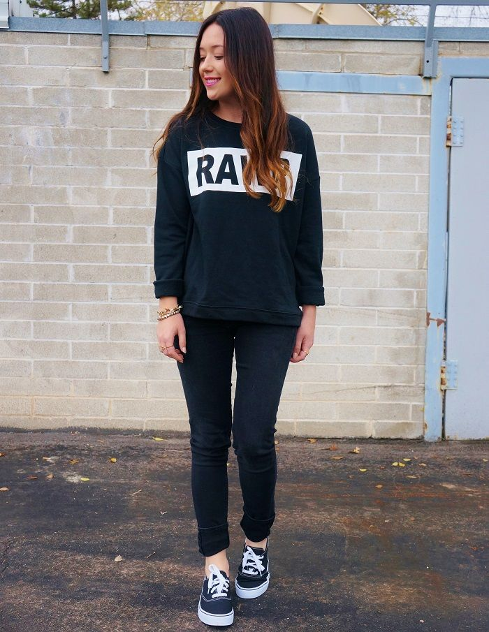 Casual all black outfit   wear it out   Pinterest