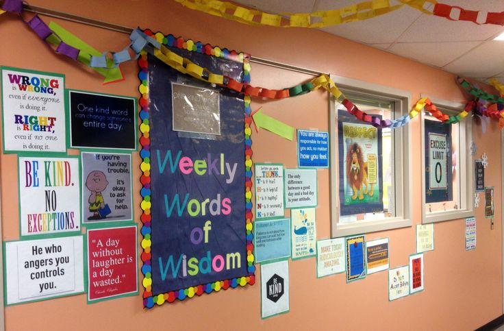 School Counseling Pinterest poster wall : bulletin boards - school co ...