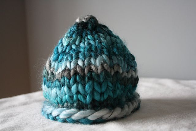Newborn Chunky Beanie **Free Pattern Knitted Hats Pinterest