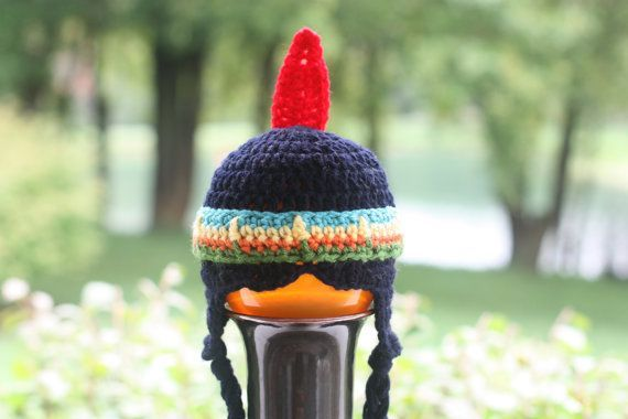 Crochet Patterns India : indian crochet hat Crochet PATTERN Little Indian Hat Instant by ...