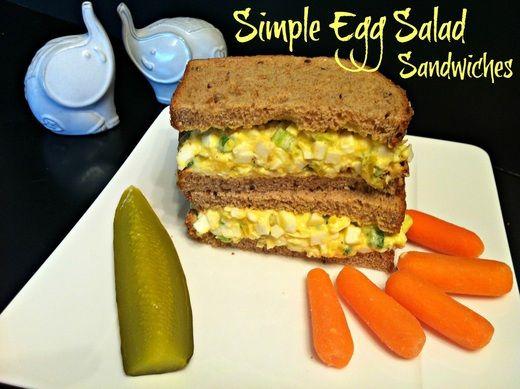 Simple Egg Salad Sandwiches | Recipes | Pinterest