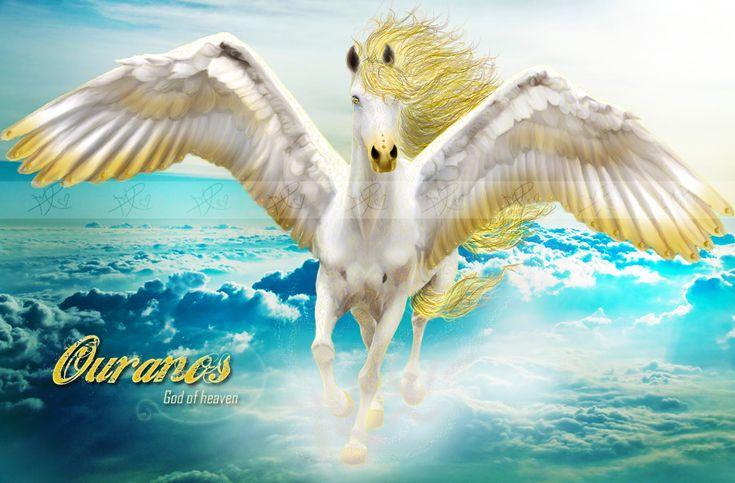 OURANOS | Pegasos y Unicornios ༻ | Pinterest