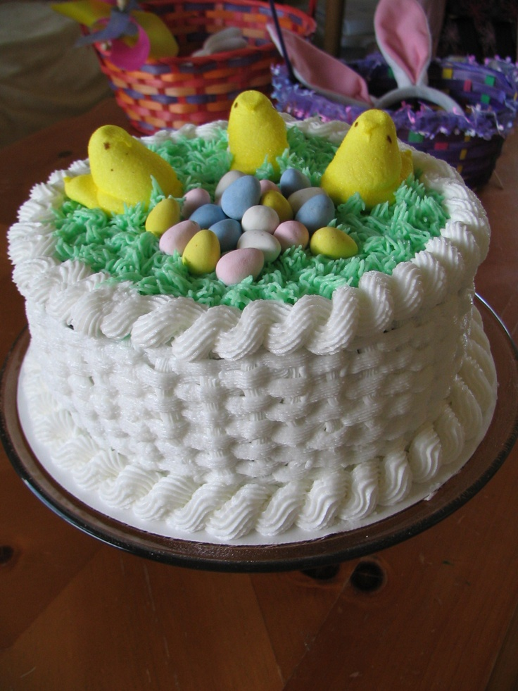 Easter Basket Cake Decorating Ideas : Easter Basket Cake Piped Dreams Pinterest