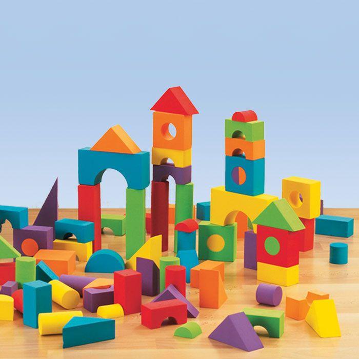 Foam Building Blocks Teaching Ideas Pinterest