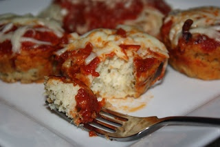 Chicken Parmesan Meatloaf Muffins - WW Friendly and so Easy!!