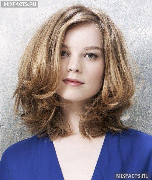 Стрижки на вьющихся волосах для круглого лица