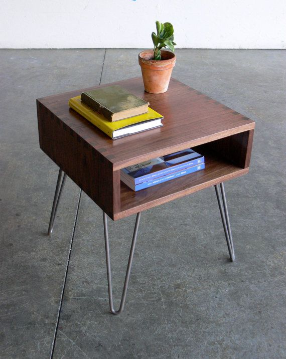 mid century modern inspired side table prefer the wood to be in more