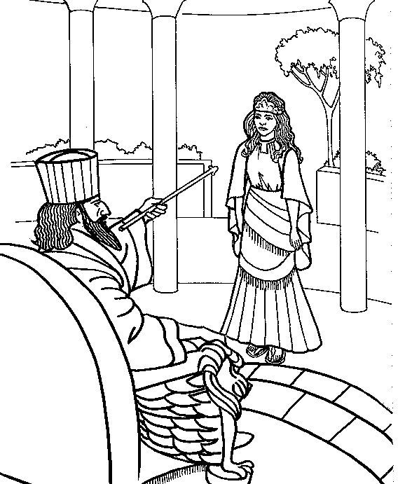 Story Of Esther Coloring Pages additionally Queen Esther Saves Her ...
