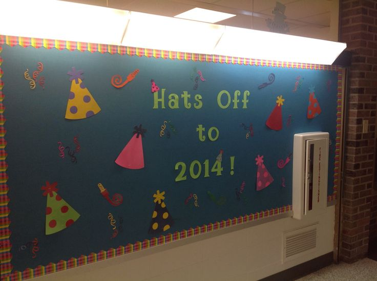 New Year's bulletin Board | School | Pinterest