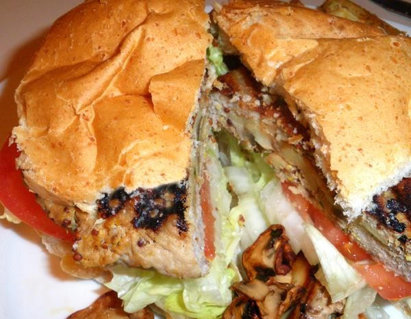 Mushroom Stuffed Grilled Pork Burger (1) From: Food, please visit