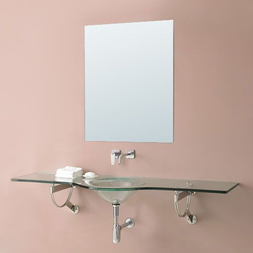 Translucence 1198T Series Glass Wall Mount Sink