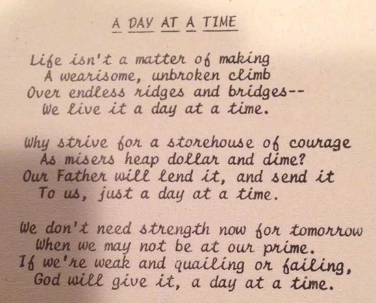 a day at a time poem quotes pinterest