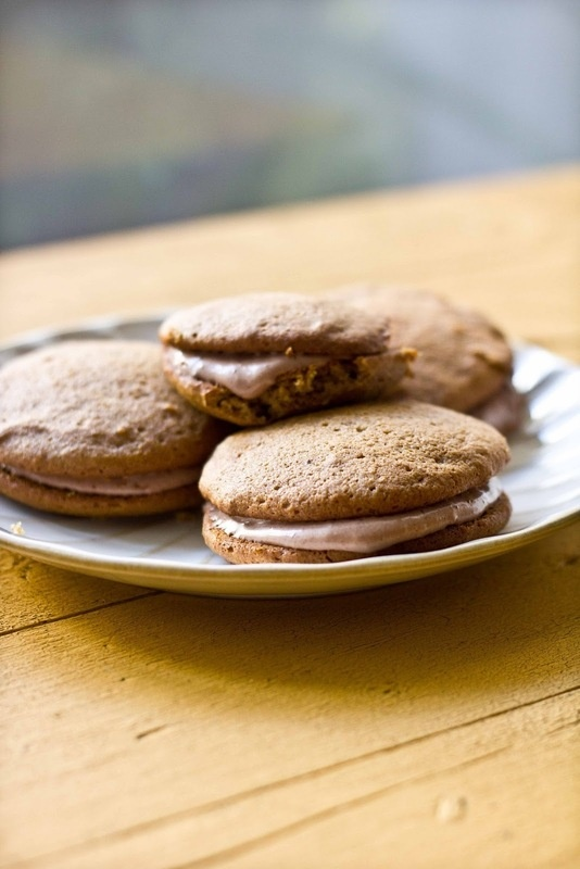 Maple Pumpkin Whoopie Pies With Chocolate Cream Cheese Filling | Reci ...
