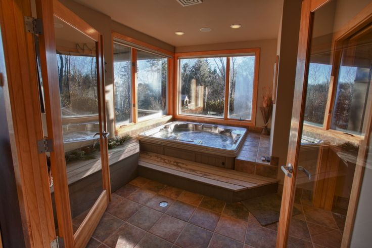 Indoor Spa With Heated Floors LAKE MCDONALD BEAUTY At 4283 McDonald