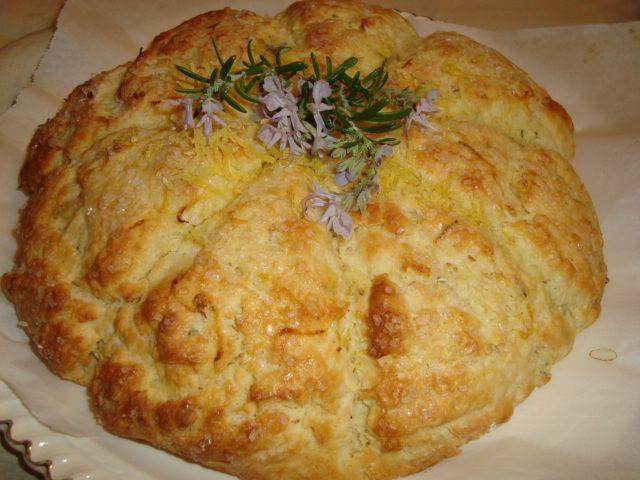 Lemon - Rosemary Cream Scones | The Fresh Loaf