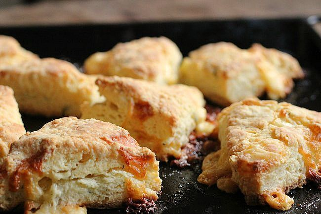 Double Cheese Dill Scones | Recipes - Bread | Pinterest