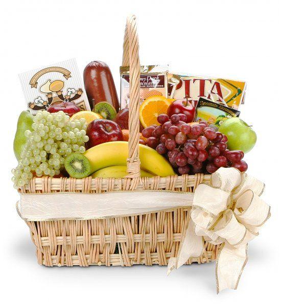 Gourmet Fruit Basket An abundant assortment of fruit and gourmet foods ...