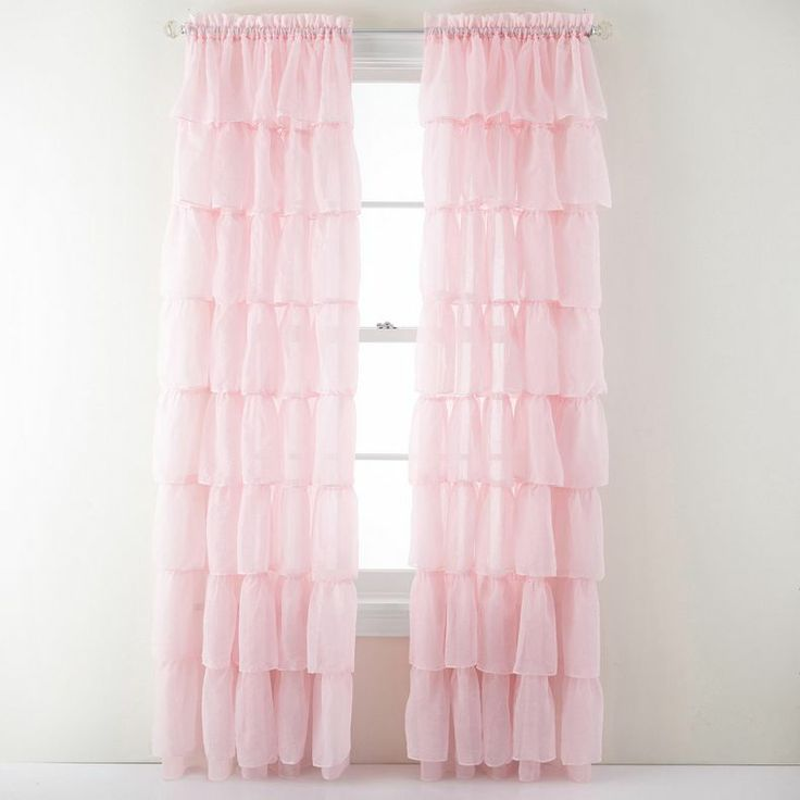 jcpenney gypsy ruffled rod pocket sheer panel jcpenney