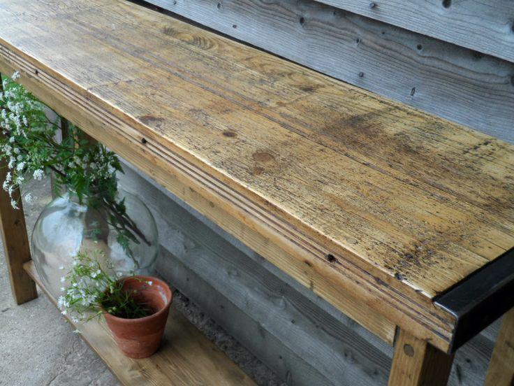 Rustic kitchen side table island unit industrial bespoke sideboard