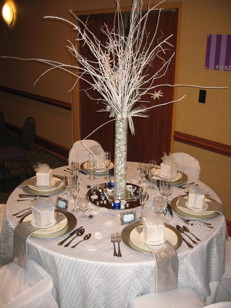 Winter wonderland table decor centerpieces amp table decor pinterest