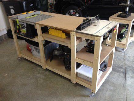 Mobile Woodworking Workstation Wood Furniture Pinterest