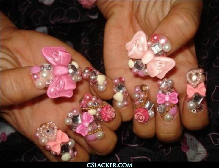 Finger Nail Jewelry - One question, Why? | Nail Art | Pinterest