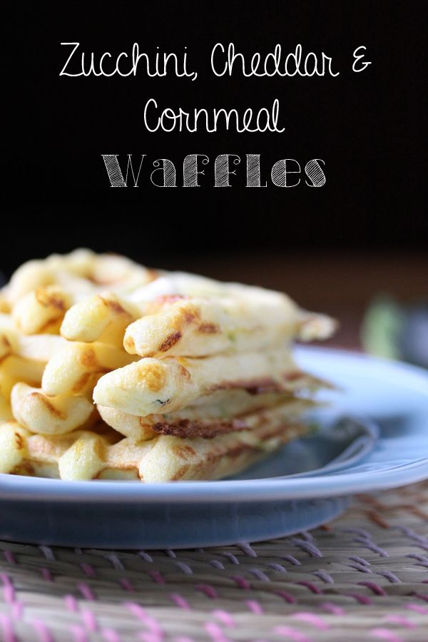 zucchini, cheddar and cornmeal waffles | #ParksandRec