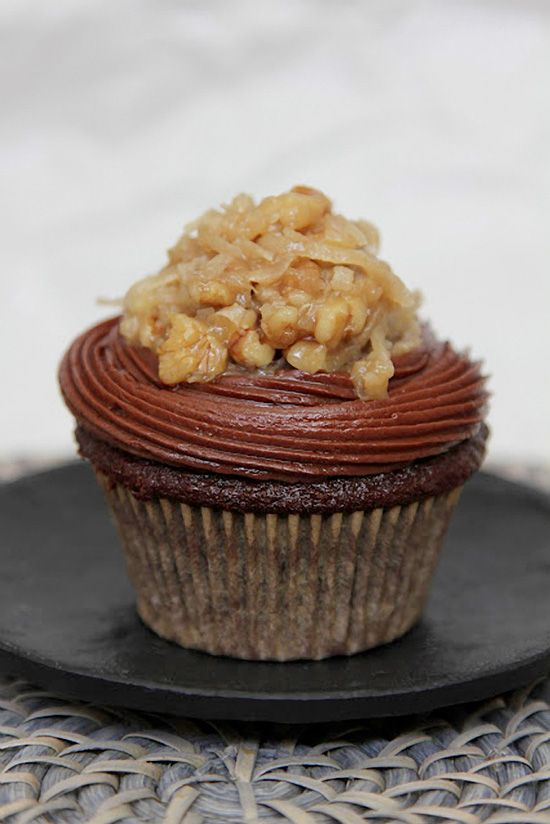 German Chocolate Cupcakes....for the one i love...made it and turned ...