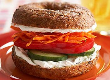 ... veggie and cheese bagel sandwich veggie and cheese bagel sandwich