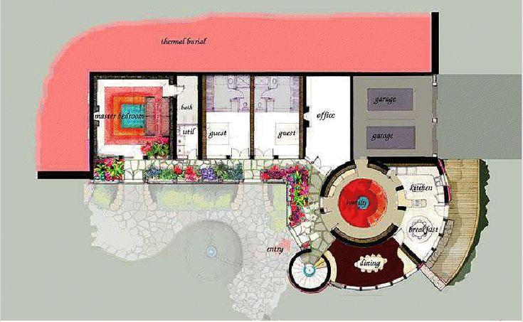 Castle Earthship Floor Plan Earthship Pinterest