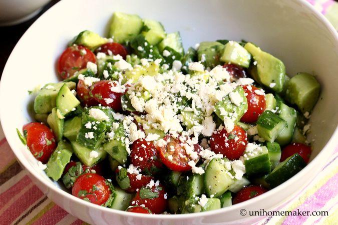 Black Bean, Avocado, Cucumber And Tomato Salad Recipe ...