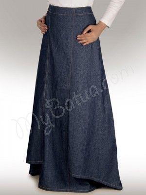 floor length denim skirt clothes