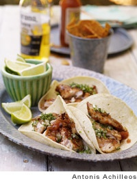 grilled red snapper tacos--ek: very good; served with the pineapple ...
