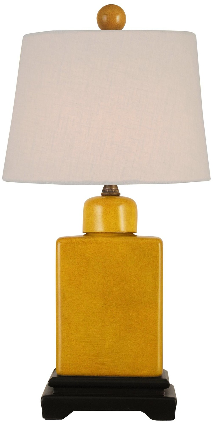 mustard yellow with off white shade porcelain table lamp. Black Bedroom Furniture Sets. Home Design Ideas