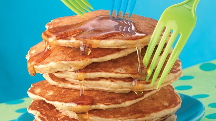 ... applesauce adds apple flavor and texture to kid-favorite pancakes