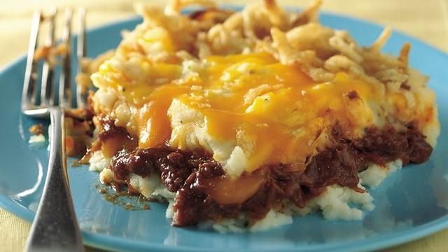 Barbeque Beef and Potato Bake | Recipe