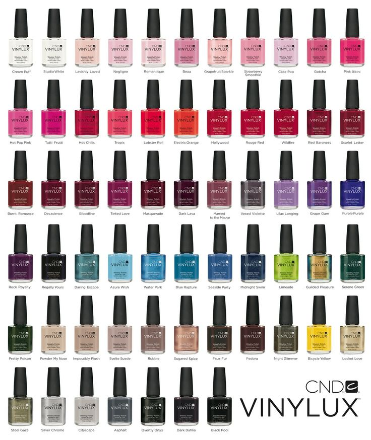 Limited colors, but best nail polish ever!!! CND Vinylux, weekly ...
