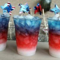 Red White and Blue Layered Drink