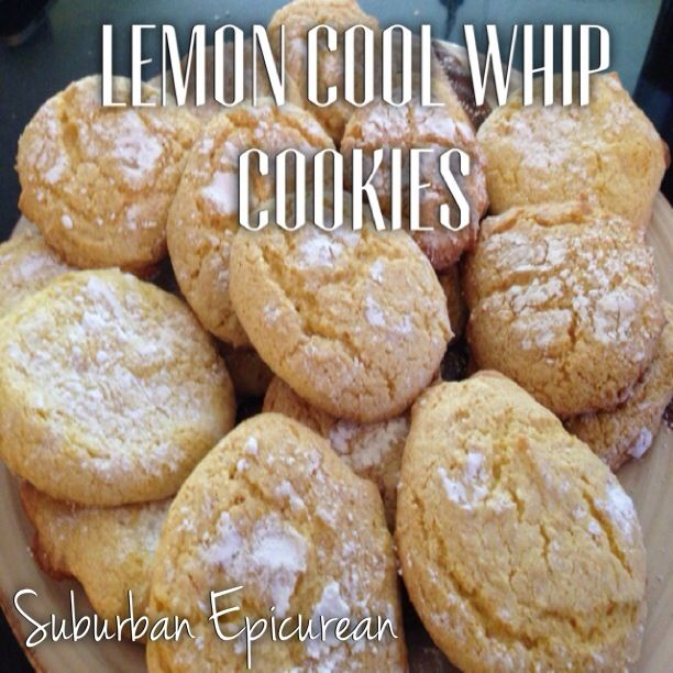 Lemon Cool Whip Cookies by Suburban Epicurean - only 4 ingredients: 1 ...